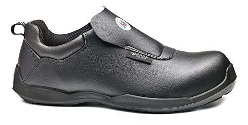 Base bo696N FIC Negro S2SRC Unisex Graba antideslizante seguridad Slip On Zapatos negro