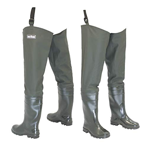FortMen Men's Waders with Boots Waterproof Waders Size 41-47 Long Waders Rubber Boots Fishing Boots Angel