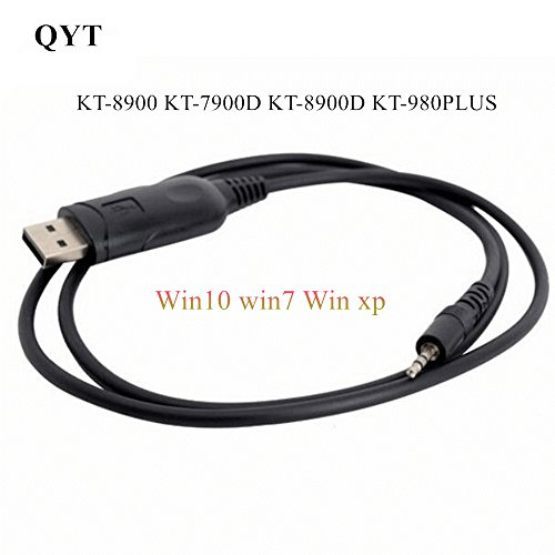 (WIN10-USB-KT8900 for QYT KT-8900/KT-7900D/KT-8900D/KT-980/KT-780 plus USB Programing cable Compatible with Win10 system)