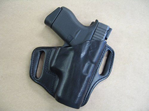 - Glock 42 .380 Leather 2 Slot Molded Concealment Pancake Belt Holster CCW BLACK RH