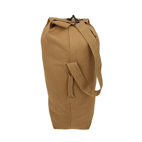 10T TLC Duffle M Bag 50L Seesack 80x25x25cm robuste Reisetasche mit Schultergurt Canvas Rucksack Leinentasche aus 100% Baumwolle 625g/m² Umhängetasche Schultertasche Toploader mit Tragegriff