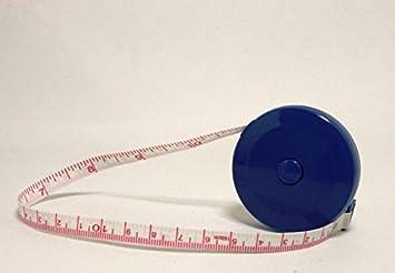 1 Schneidermaßband Maßband 150 cm 60 inch gute Qualität Fiberglas rund Blau