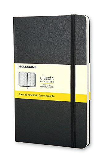 Price comparison product image Moleskine Classic Notebook, Large, Squared, Black, Hard Cover (5 x 8.25) (Classic Notebooks)