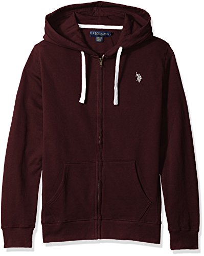 U.S. Polo Assn. Men's Slim Fit Solid French Terry Hooded Jacket