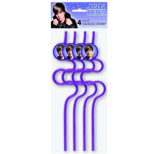 Justin Bieber Squiggle Straws Favors