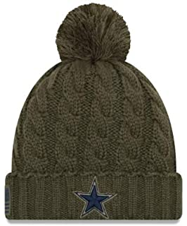 3017a176bb7ad Amazon.com : Dallas Cowboys Salute to Service 2017 Knit Hat : Clothing
