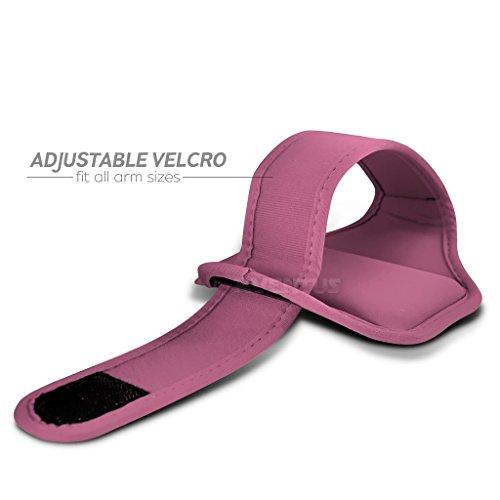 Aventus Aldi Medion Life X4701 (Baby Blau) Voll einstellbare Leicht Hulle Armband-Halter-Kasten-Abdeckung Running, Walking, Radfahren, Fitnessraum und andere Sportarten Rosa