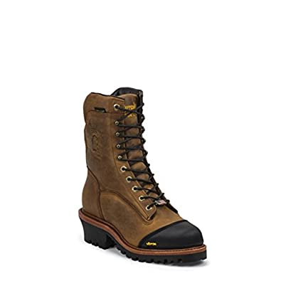 ed352be4cde Chippewa Men's 9 Inch Super Logger Waterproof Insulated Comp Toe 25388 Lace  Up, Golden Sand, 9 2E US