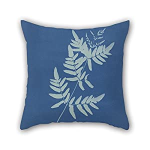 Slimmingpiggy Throw Cushion Covers Of Oil Painting Anna Atkins - Osmunda Rigalis (Australia) 16 X 16 Inches / 40 By 40 Cm,best Fit For Adults,home Theater,couch,bench,teens Boys,son 2 Sides