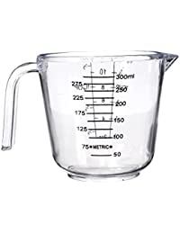 Gain 300ml Clear Plastic Measuring Baking Cups Handle Pour Spout Container online