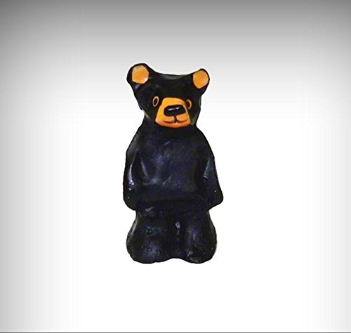 Small Chainsaw Carving Style Standing Black Bear Statue 1:12 Dollhouse Miniature - My Mini Garden Dollhouse Accessories for Outdoor or House (Adirondack Cabin Kit)