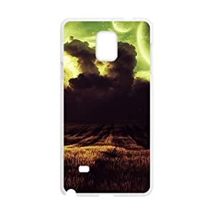 AWU DIYAbstract Universe White Phone Case for For Iphone 4/4S Cover
