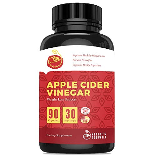 Apple Cider Vinegar Pills for Weight Loss | All Natural Detox Cleanse Weight Loss, Appetite Suppressant, Metabolism Booster, Fat Burner & Keto Diet | 90 Extra Strength 2250mg ACV Capsules (Best Diet For Belly Fat And Love Handles)