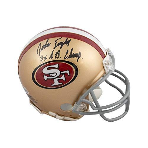 John Taylor 3x SB Champ Autographed San Francisco 49ers Mini Football Helmet - BAS COA