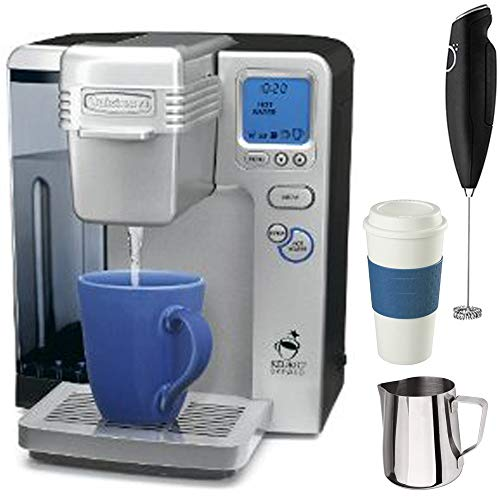 Cuisinart Single Serve Keurig Brewing System Factory Refurbished (SS-700FR) with Premium Coffe Bundle
