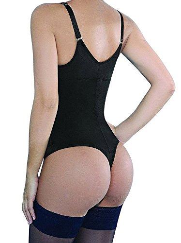 dff4adaa7a135 SHAPERX Women Seamless Firm Control Shapewear Faja Open Bust Bodysuit Body  Shaper