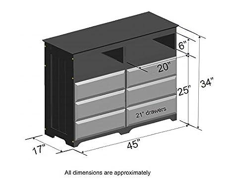 Amazon.com: Discovery mundo Muebles 6 cajones ...