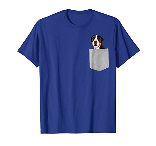 Greater Swiss Mountain puppy dog in your pocket Shirt