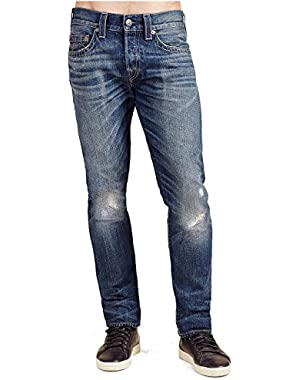 Men's Rocco Relaxed Skinny Fit Studded Jeans in Lost Horizon