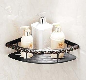 LHbox Tap Toalla Negra Rack Negro 古 Racks Rack de Toallas de baño de Metal Adornos, triángulo Azul.: Amazon.es: Hogar