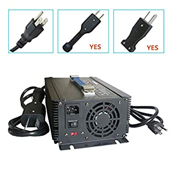 Image of Abakoo 36V 20A Golf Cart Battery Charger with Crowsfoot Style Connector Crowfoot Plug Golf Cart Accessories