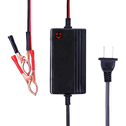 12V to 14.8V Automatic Lead Acid Battery Charger/Maintainer, 1.2A Trickle Charger for car, Truck, Boat, Motorcycle, RV, Lawn Tractor