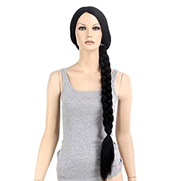 Stfantasy Wigs for Women Cosplay Costume Extra Long Straight Synthetic Braid Ponytail Peluca 35 Inch 265g
