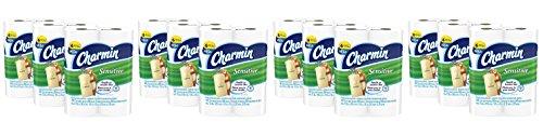 Charmin VisAnj Sensitive Toilet Paper, Mega Roll,Bath Tissue, 4 Pack of 18 by Charmin