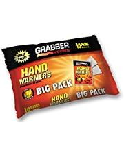 Grabber Hand Warmers - Long Lasting Safe Natural Odorless Air Activated Warmers - Up to 7 Hours of Heat - 10 Pairs