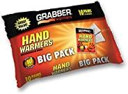 Grabber Hand Warmers - Long Lasting Safe Natural Odorless Air Activated Warmers - Up to 7 Hours of Heat - 10 P
