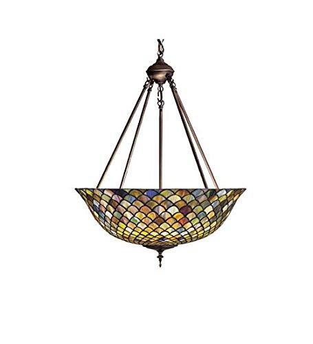 Meyda Tiffany 111082 Fishscale Inverted Pendant, 24
