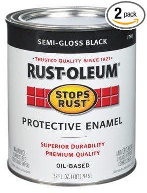 Rustoleum Stops Rust 7798 502 1 Quart Semi Gloss Black