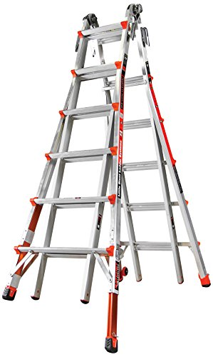 Little Giant Ladder Systems 12026-801 Revolution M26 with Ratcheting Levelers]()