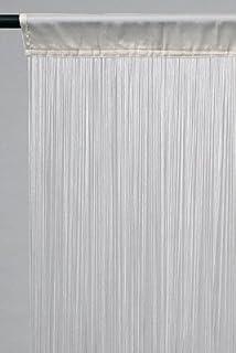 Rideau fil (largeur 90 cm) Blanc: Amazon.fr: Cuisine & Maison