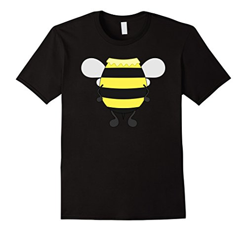 Male Bee Keeper Costume (Mens Funny Honeybee Costume Shirt - Hilarious Bee Halloween Gift Large Black)