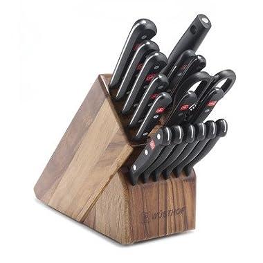 Gourmet 18 Piece Cutlery Set Color: Acacia Block