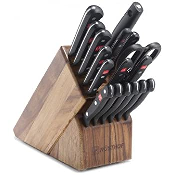 Wusthof Gourmet 18 Piece Acacia Knife Cutlery Block Set 9718-6