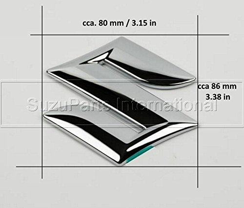 Stemma Logo Emblema Badge cromato posteriore adesivo (80x86 mm) - 77811-63J00-0PG Multiparts