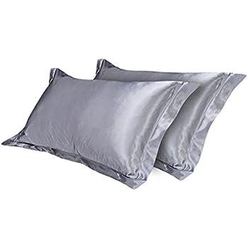 Amazon Com Littlegrass Satin Silk Pillowcase Queen Size