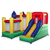 Kids Inflatable Bounce House Castle Jumper Slide Moonwalk Without Blower