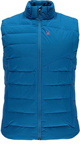 Spyder Men's Dolomite Down Vest, Electric Blue/Polar, Large