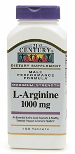 - 21st Century L-Arginine 1000mg, Maximum Strength 100 ea (Pack of 2)