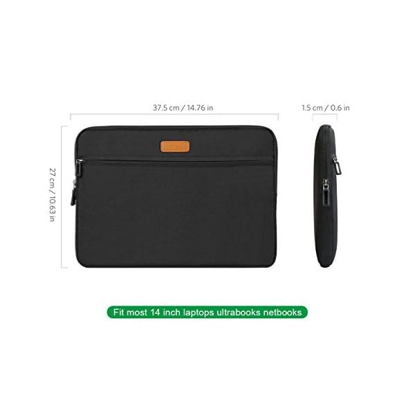 Inateck LC1400B, Borsa custodia sleeve morbida per laptop 14-14.1 pollici, compatibile con MacBook Pro 15 pollici nuovo… 2 spesavip