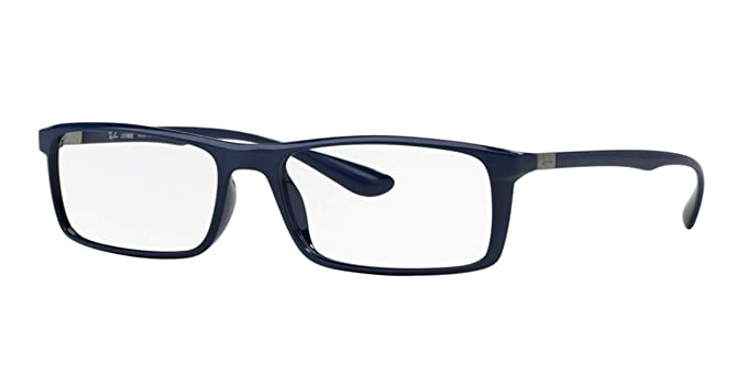 a6ffbe7da9 Amazon.com  RAY BAN Eyeglasses RX 7035 5431 Shiny Dark Blue 57MM  Shoes