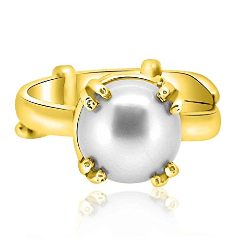 Decades Costumes Diy (Adjustable Panchdhatu Ring 4.50 Ratti Moti Gemstone Astrological By Arihant Gems And Jewels)