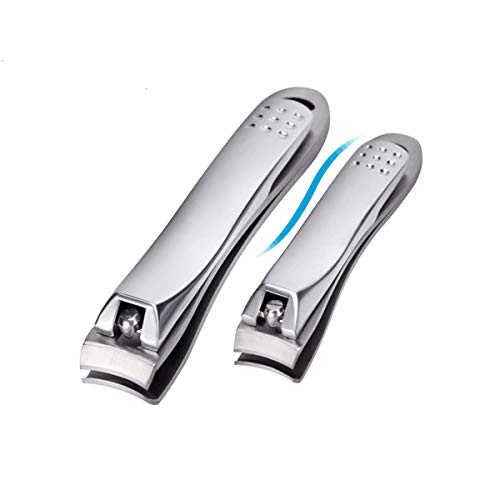 Nail Clippers Set-Stainless Steel Fingernail and Toe nail Clippers Cutter, Nail Clipper for Men and Women, Pumice Stone Callus Remover (3 Pack)