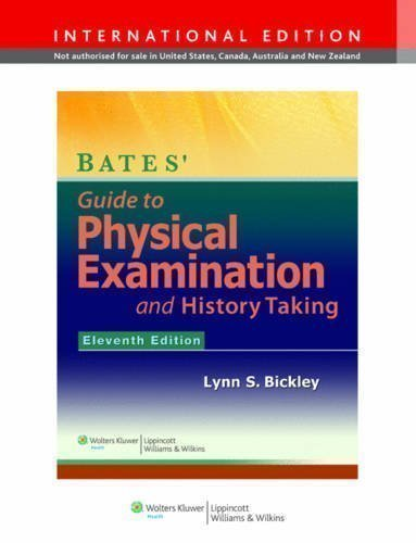 bates guide to physical examination 11th edition
