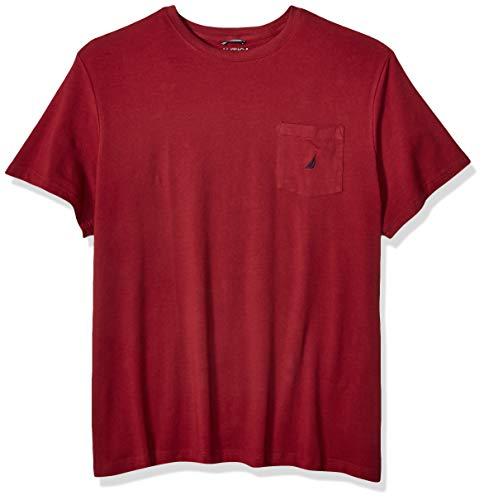 Nautica Men's Solid Crew Neck Short Sleeve Pocket T-Shirt, Barolo, 1X Big