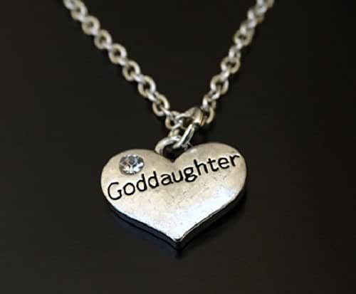 Gift For Goddaughter Birthstone Necklace Sterling By: Amazon.com: Goddaughter Necklace, Goddaughter Charm