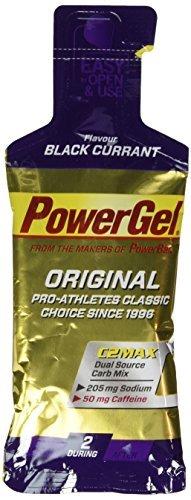 Powerbar Black Currant and Caffeine Powergel Original - 41 g Pouch x 24 Gels by Power Bar
